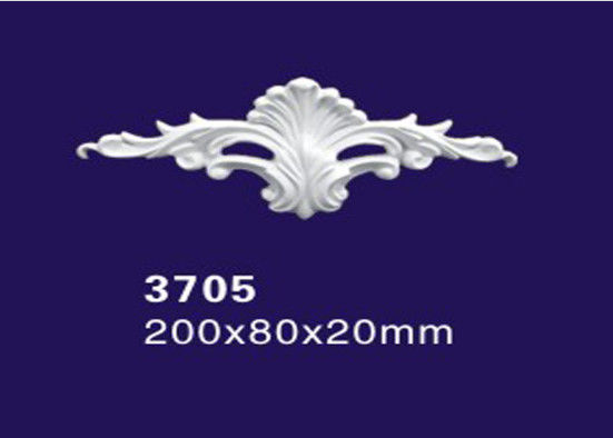 Matt Decorative Ornamental Plaster Molds / Onlay / Molding Appliques