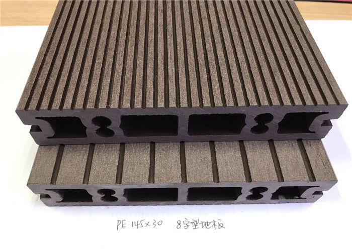 Anti UV Wood Vinyl Composite Flooring , Wood Plastic Composite Decking Board